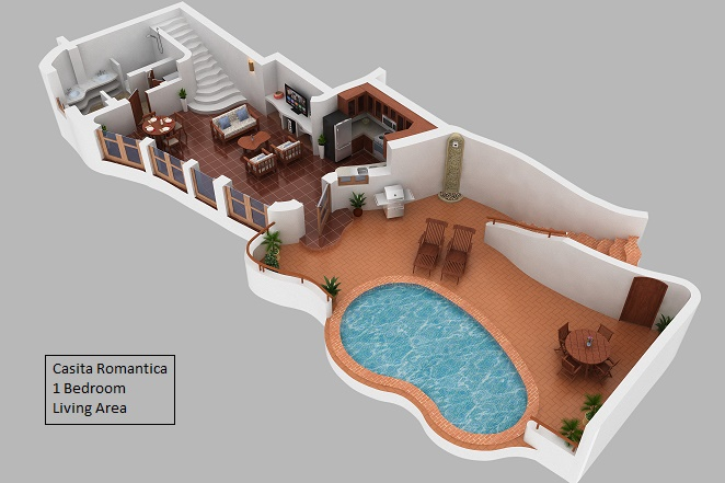 Living Area Floor Plan Casita Romantica
